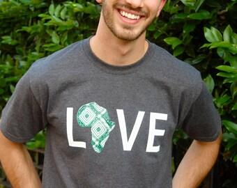 LOVE Africa T-shirt: XXL Hunter Green