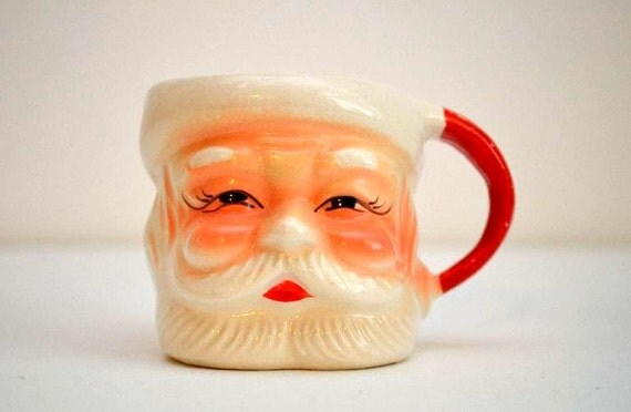 Vintage Santa Mugs 4 Made In Japan