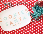 Cookies for Santa Personalized Christmas Platter
