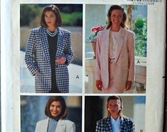 Butterick 5653, Women's Jacket Pattern, Sizes 12 through 16, Vintage 1991