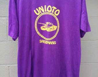 TEE SALE Vintage Unioto Sherman Tank Shirt