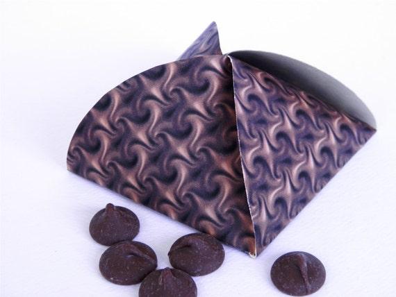Printable Gift Box Chocolate Swirl Party Favor Box Bon Bon Style