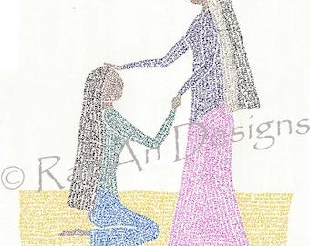 Ruth & Naomi: Micrography Print