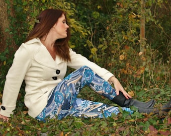 Ladies Limited Edition Foral Velvet Leggings - pick your size