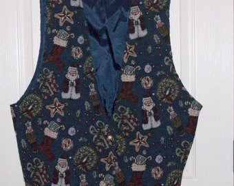 Ugly Christmas Vest Size 22W Backroad Blues Jeanswear  **Free USA Shipping**