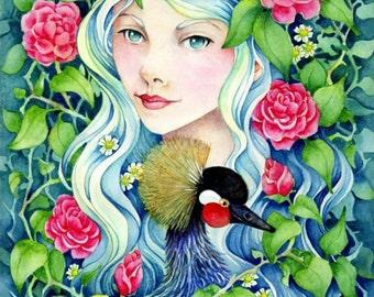 "Fantasy Art 5x7 Art Print ""Camelia"""