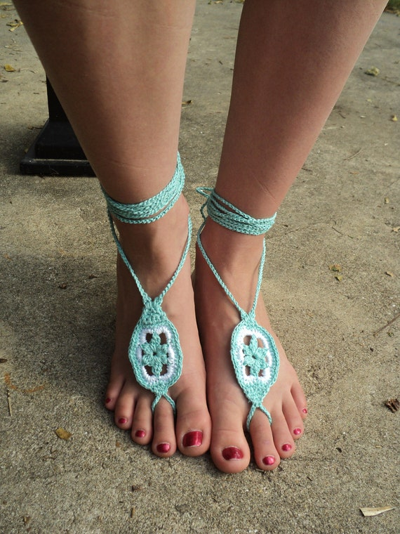 Crochet PATTERN - Star Flower Barefoot Sandals