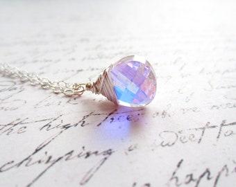 Swarovski Necklace, Swarovski Crystal Necklace, Swarovski Crystal Drop Necklace, Swedish Jewelry Design, Made in Sweden