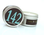 No. 142: CARIBBEAN TEAKWOOD // Natural Soy Candle // 6 oz Tin // Highly Scented