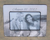 Unique Engagement Gift, Personalized Picture Frame, Wedding Picture Frame, Custom Anniversary Gift, Bridal Shower Gift