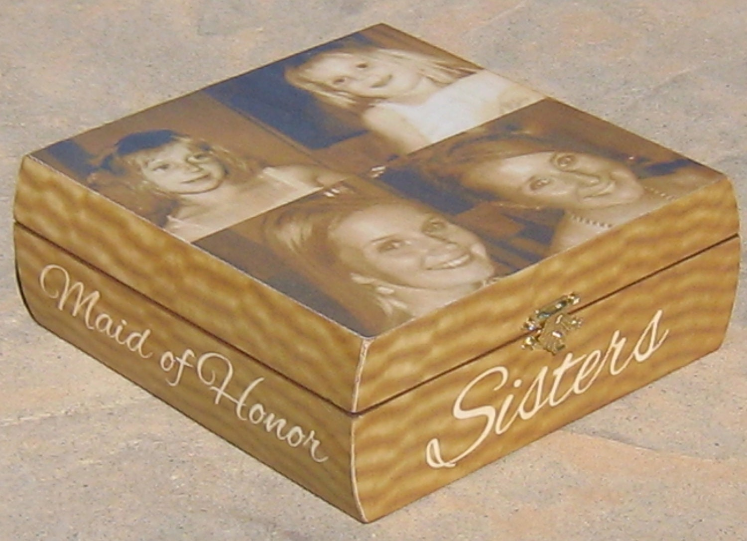 Personalized keepsake box sister gift maid by