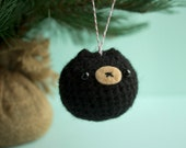 Black Bear Chuppy Christmas Ornament