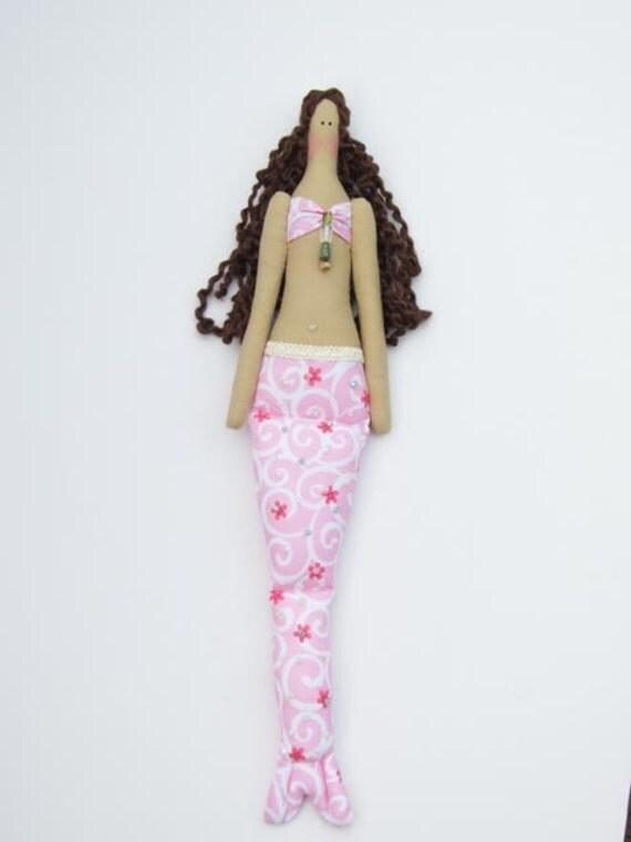 Custom order for Peggy - Sweet Mermaid doll in pink