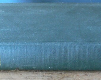 vintage textbook, Practical Heat, green cover,1951, book decor from Diz Has Neat Stuff