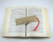 Teacher Bookmark - Wood Pyrography - Wood Bookmark with teacher quote