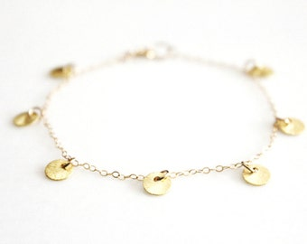Gold Multi Disc Bracelet