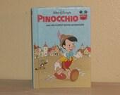 SALE - Vintage Pinocchio Walt Disney Book - Excellent Condition