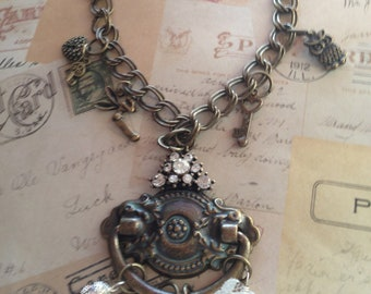 Jewelry Necklace Door Knocker Vintage Victorian Steampunk Inspired Charm Necklace