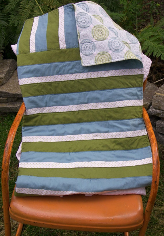 Stripe Baby Quilt Cotton and Flannel