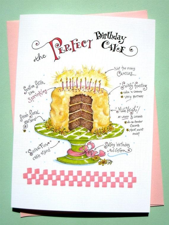 Birthday Cake Card, Funny Birthday Card, Girlfriend Birthday Card - Perfect Birthday Cake