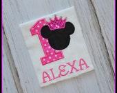 Personalized Minnie Mouse Birthday shirt - Princess Minnie Birthday Shirt - Girls Birthday Shirt - Mickey Shirt