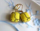 Funky Retro Lemon drop earrings