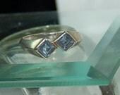 Vintage Light Blue Topaz  Ring - SZ 7 1/2 - 925 - Sterling Silver