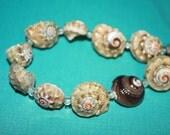 Natural Shell Beads, Full Strand