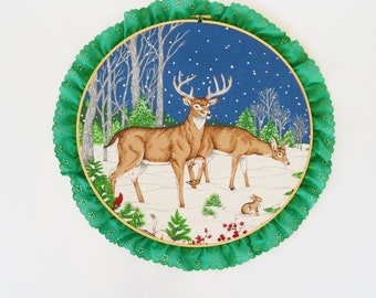 Christmas Embroidery Hoop Wall Decor Christmas Decoration Holiday Decor