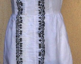 White Vintage Dress, Betty Barclay Vintage Dress, White Shift Dress