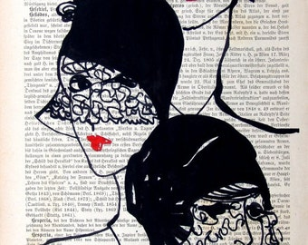Illustration THREE FATES Giclee Prints Posters Mixed Media Painting