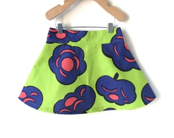 2T Girls Skirt in Spring Green Marimekko Cotton