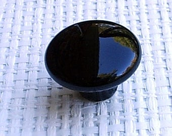 Jet Black Ceramic Cabinet Knobs, Drawer Pulls, Cupboard Hardware, Furniture hardware,