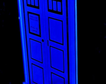 Tardis - Doctor Who edge lit acrylic sign