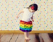 Rainbow Dash Girls Skirt, Rainbow Skirt, Little Girls Bright Ruffle Skirt, Costume, Colorful Skirt, Toddler Birthday Skirt