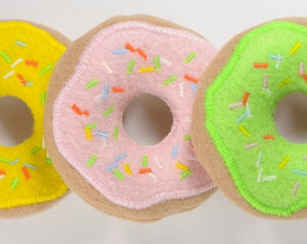 Frosted Donuts with Sprinkles Organic Catnip Cat Toy