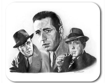 Humphrey Bogart Mouse Pad - Original Graphite Portrait