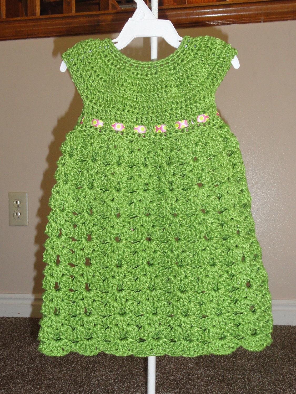 Crochet Simple Dress Pattern : Fun and Easy Kaylen Dress Crochet Pattern Sizes 12 Months 2T