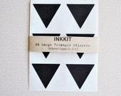 black large triangle stickers  (24 stickers) - inkkit