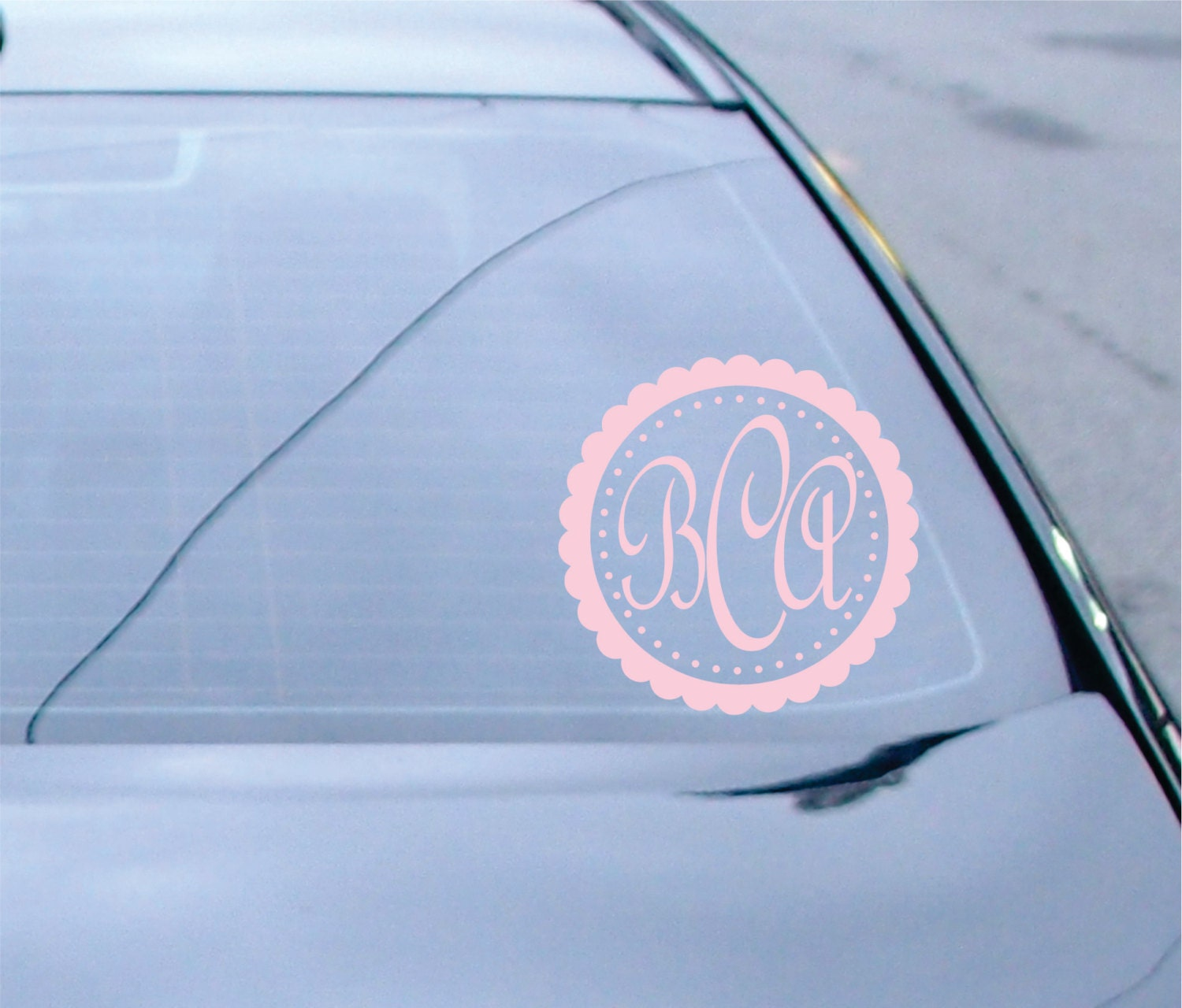 Monogram Car Decal Small Decal Name Wall Decal Monogram - Monogram car decal sticker