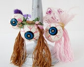 Eyeball Ornaments You Choose Showgirl, Punk Rocker, or Hippie Chick