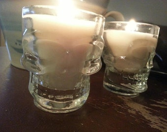 Skull Shot Glass Soy Candle - CHOICE OF SCENT