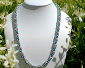Delicate Byzantine Necklace with Turquoise - Ready To Ship