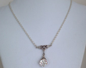 Swarovski Crystal Clear Pendant Necklace