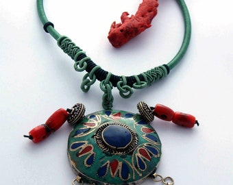 Afghan necklace handmade pendant
