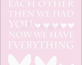 Pink Butterfly Nursery Print, Butterfly Nursery Decor, Pink Nursery Decor, Girl Nursery Art, Butterfly Print, Lucy Butterfly Decor - 8x10