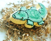 Alligator / Crocodile Decorated Sugar Cookie