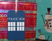 Dr. Who TARDIS Gift Tags set of 4