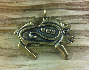 01.131.BZ  Bronze Viking age zoomorphic Boar pendant