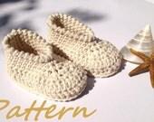 Organic Cotton Baby Booties Crochet Pattern, Baby Shoes, Spa Shoes, Crochet Baby Booties Pattern